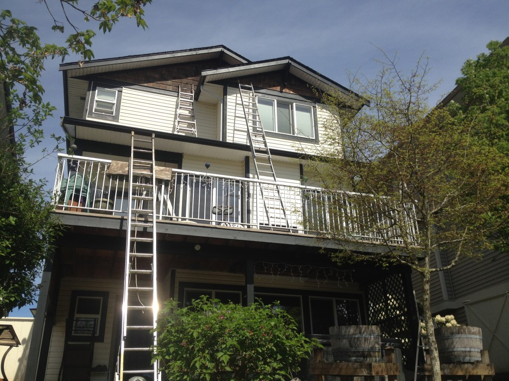 Exterior paint trim for an Auguston home in Abbotsford, BC