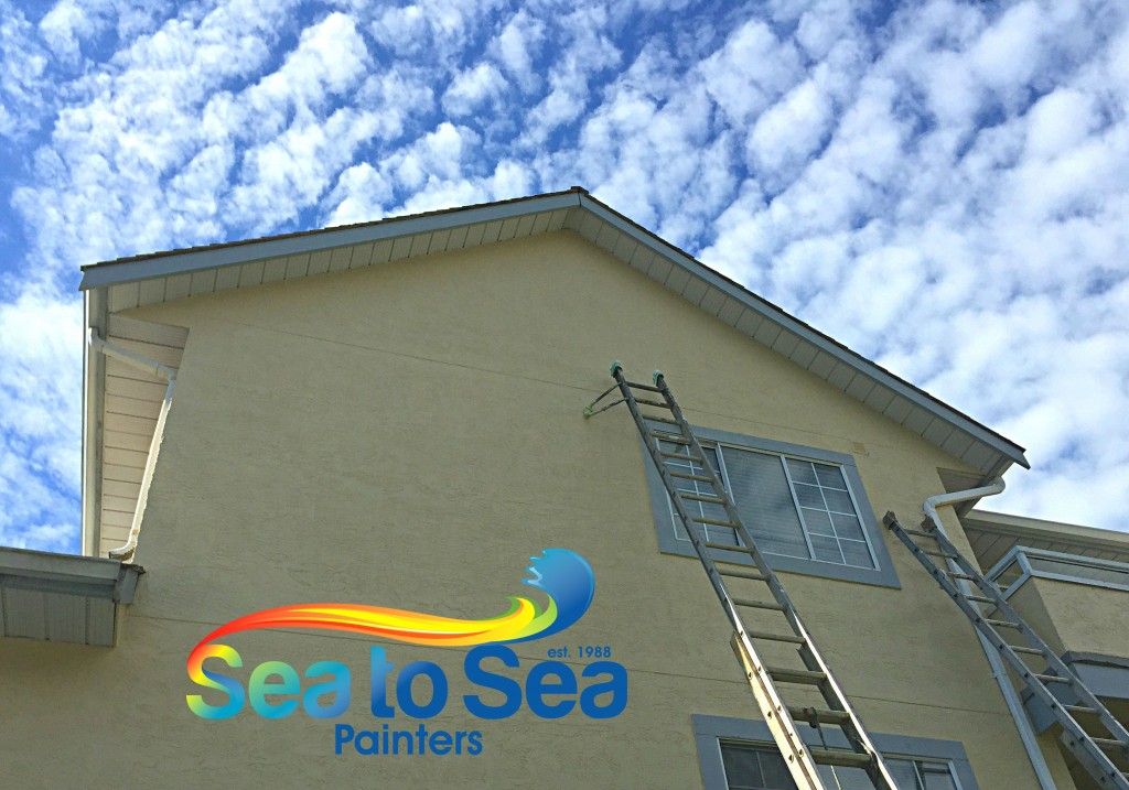 Exterior commercial painting for a care home in White Rock, BC