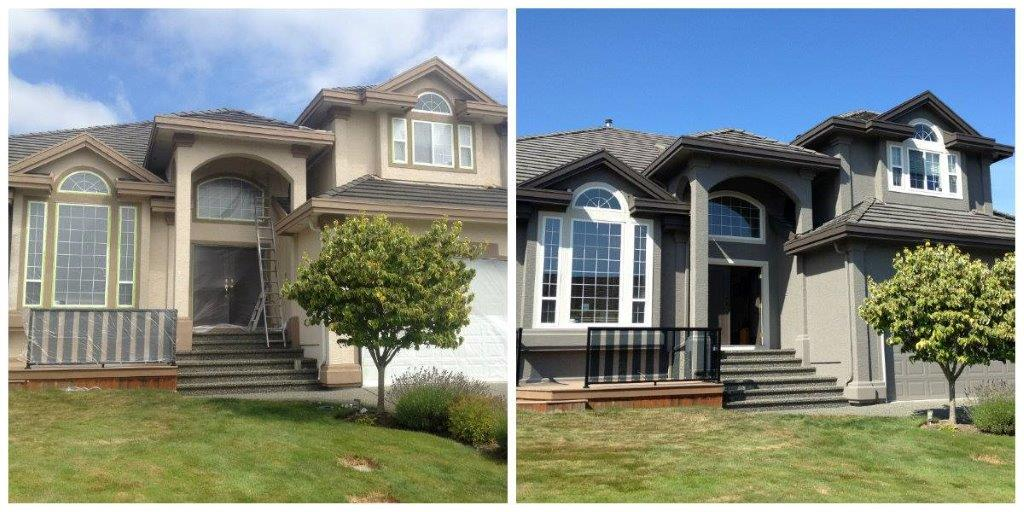 Surrey exterior before after